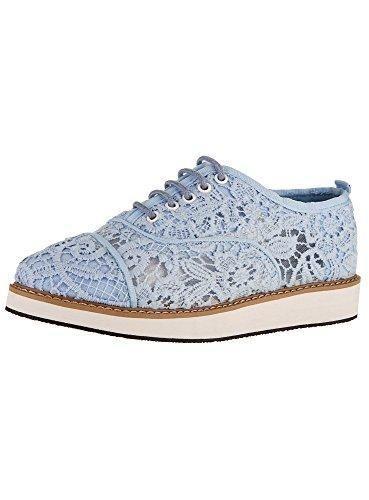 Oferta: 27€. Comprar Ofertas de oodji Collection Mujer Zapatos de Encaje con Suela Alta, Azul, 37 EU / 4 UK barato. ¡Mira las ofertas!