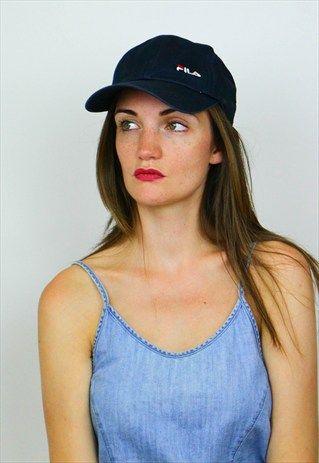 VINTAGE FILA LOGO FRONT & BACK -BUCKLE DETAIL- BASEBALL CAP