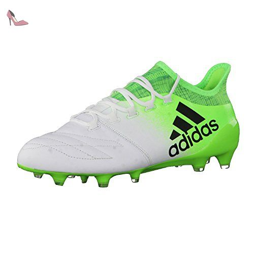 Adidas x 16.1Leather FG Bottes de Football pour Homme, Blanc–(Ftwbla/negbas/versol) 48 - Chaussures adidas (*Partner-Link)