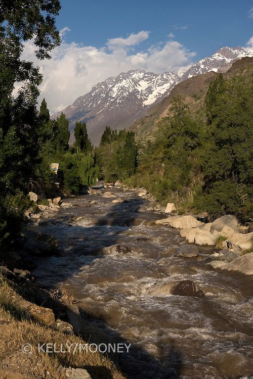 Maipo River and Andes Mountains, Chile