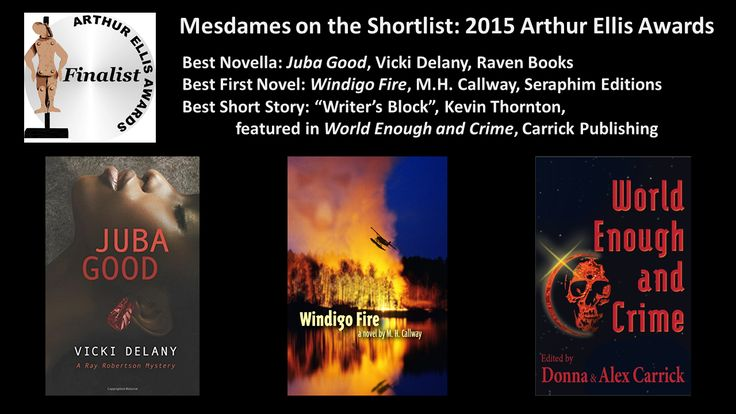Mesdames on the Arthur Ellis Shortlist! | Mesdames of Mayhem