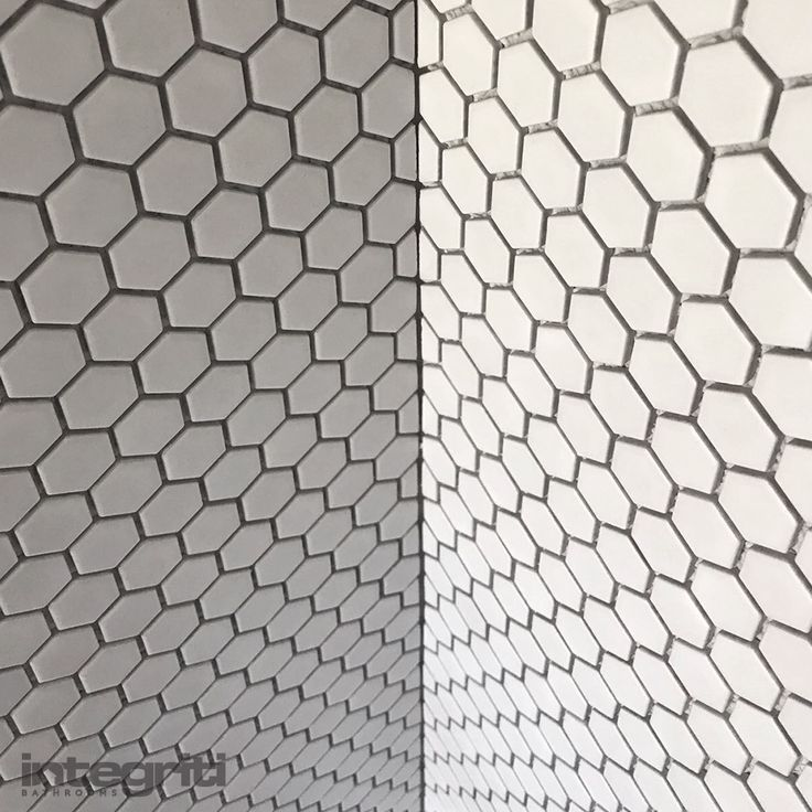 Check out the detailing on these tiles at our Double Bay project. We're back at it again with the hexagonal patterns!  #integritibathrooms #custommade #sydneybathroom #interiordesign #bathroom
