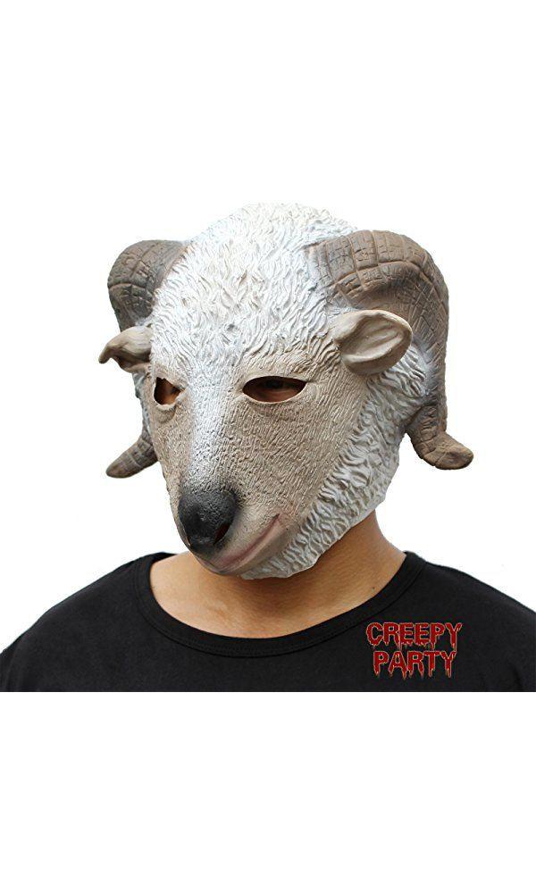 CreepyParty Deluxe Novelty Halloween Costume Party Latex Animal Head Mask Goat Best Price
