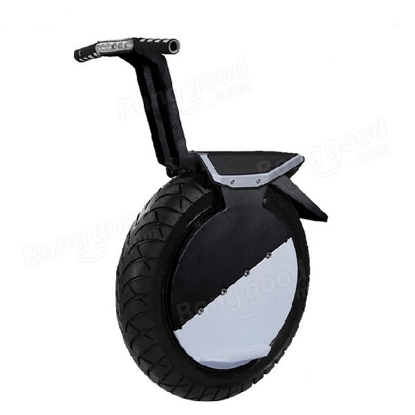 Vacío neumático de motocicleta de una rueda de 17 pulgadas auto balance con linterna LED Venda-Banggood.com