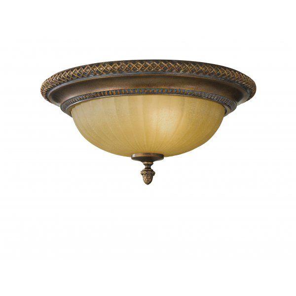 KELHAM HALL traditional bronze flush ceiling light for low ceilings
