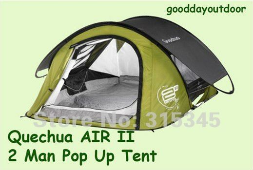 Quechua Waterproof Pop Up Camping Tent 2 Seconds AIR II, 2 Man Double Lining-in Tents from Sports & Entertainment on Aliexpress.com $159.00