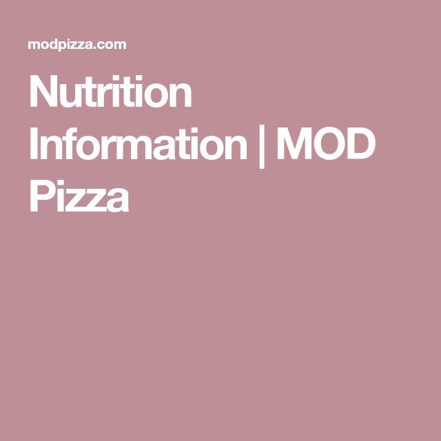 Nutrition Information | MOD Pizza
