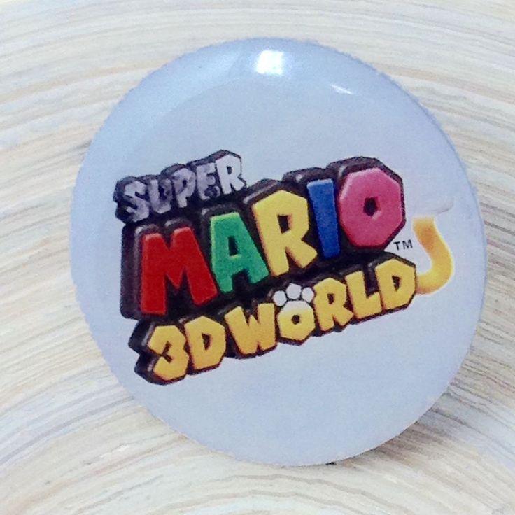 Super Mario 3D World Nintendo Wii U Promotional Button Pin Used  #Nintendo