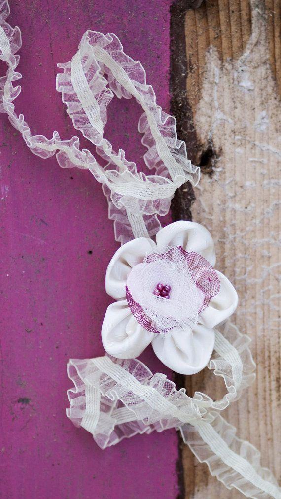 Baby headband Newborn Headband Flower Headband by GabriCollection
