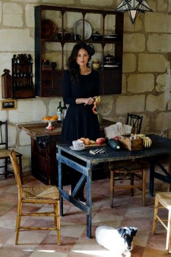 "The French Hostess | Sous Style - her ""uniform"" is a little black dress and Hunter boots. Love."
