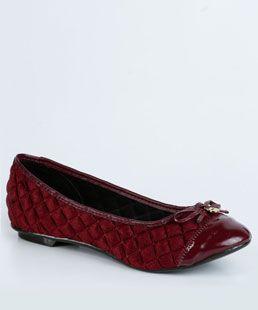 R$59,95 - Marisa sapatilha de veludo e ponta de Verniz Moleca