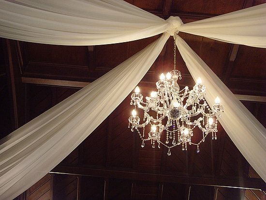 Indoor Shabby Chic Wedding :  wedding country decor shabby chic themed venue Chandelier