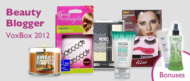 Influenster Beauty Blogger VoxBox 2012