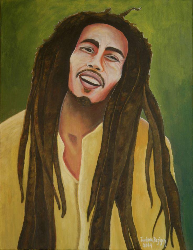 ''Βob Marley'' Aκρυλικό σε καμβά