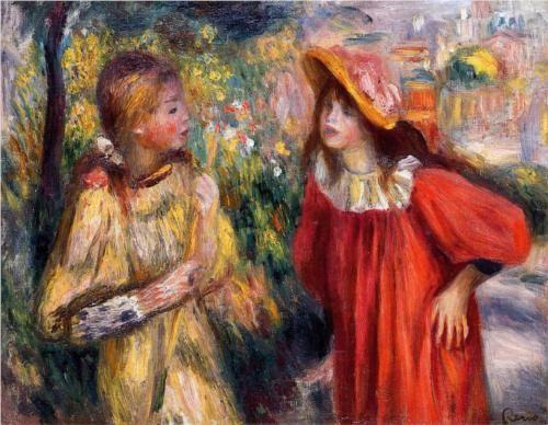 The Conversation - Pierre-Auguste Renoir