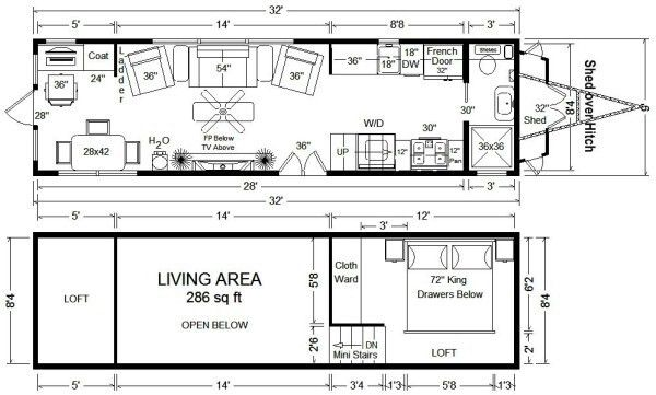 83 best Diy Tiny House On Wheels Floor Plans images – Tiny Home On Wheels Floor Plans