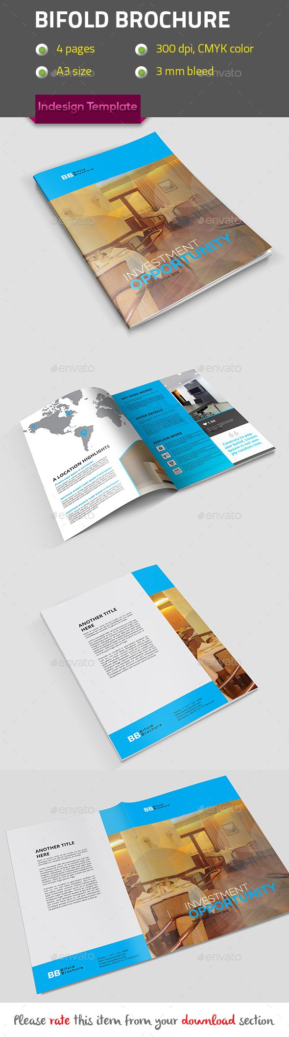 Best Bifold Brochure Templates Designs Images On Pinterest - Bi fold brochure template indesign