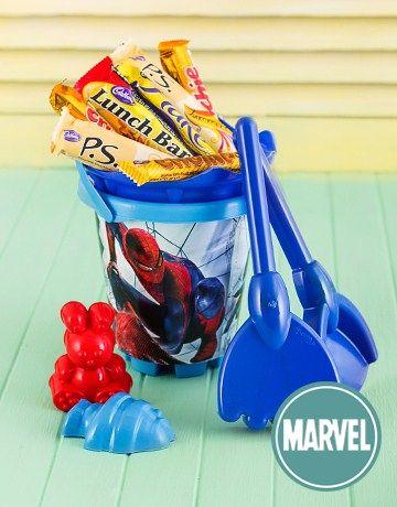 Spiderman Beach Bucket with Chocolates