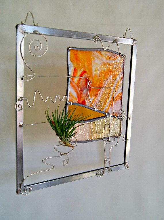 Stained Glass Desert Art Route 66 Art Stained Glass by GlassByKat