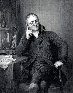 John Dalton was born September 6, 1766, in Eaglesfield, England. During his early career, he identified the hereditary nature of red-green color blindness. In 1803 he revealed the concept of Dalton's Law of Partial Pressures. Also in the 1800s, he was the first scientist to explain the behavior of atoms in terms of the measurement of weight. Dalton died July 26, 1844 in Manchester, England.