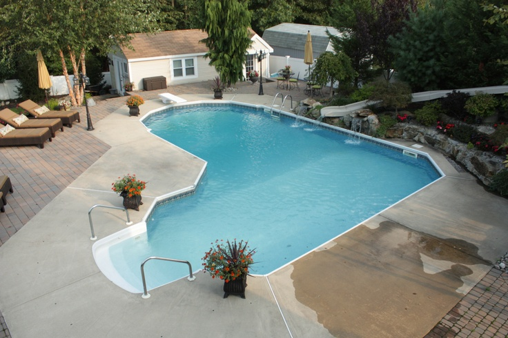 17 Best Images About Inground Vinyl Pools On Pinterest Vinyls Luxury Pools And New Jersey