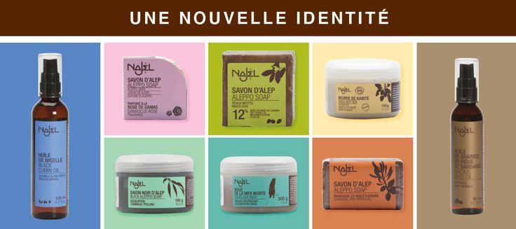 Najel a désormais une nouvelle identité plus colorée et personnelle !  De beaux aplats de couleur pour caractériser et mettre en valeur nos produits selon un code bien particulier afin d'identifier une gamme de produits ou un ingrédient principal.  D'ici la fin de l'année, tous les produits Najel respecteront cette nouvelle charte graphique haute en couleur. Mixez les couleurs au gré de vos envies !