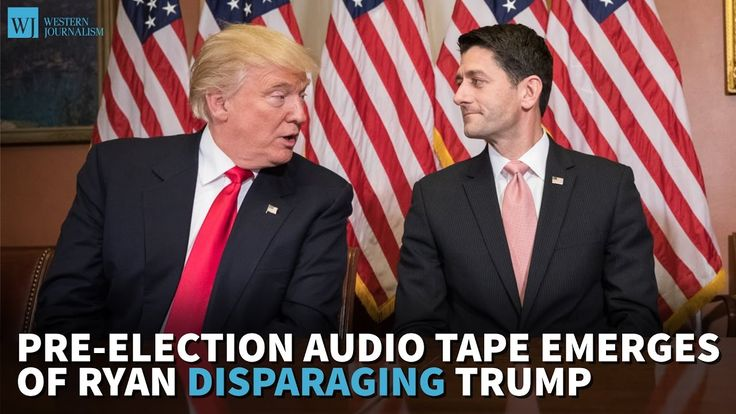 Pre-Election Audio Tape Emerges Of Ryan Disparaging Trump