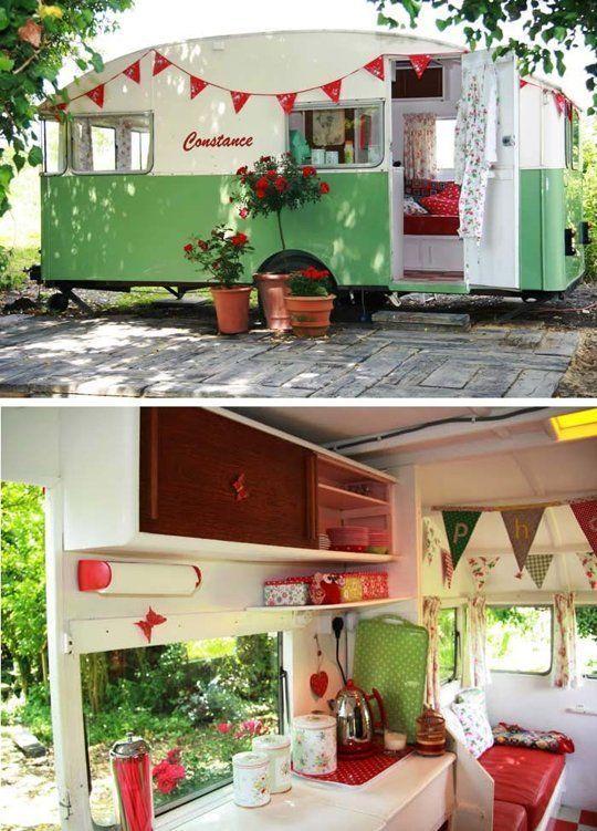 17 melhores ideias sobre caravanas vintage no pinterest for Interiores de caravanas reformadas