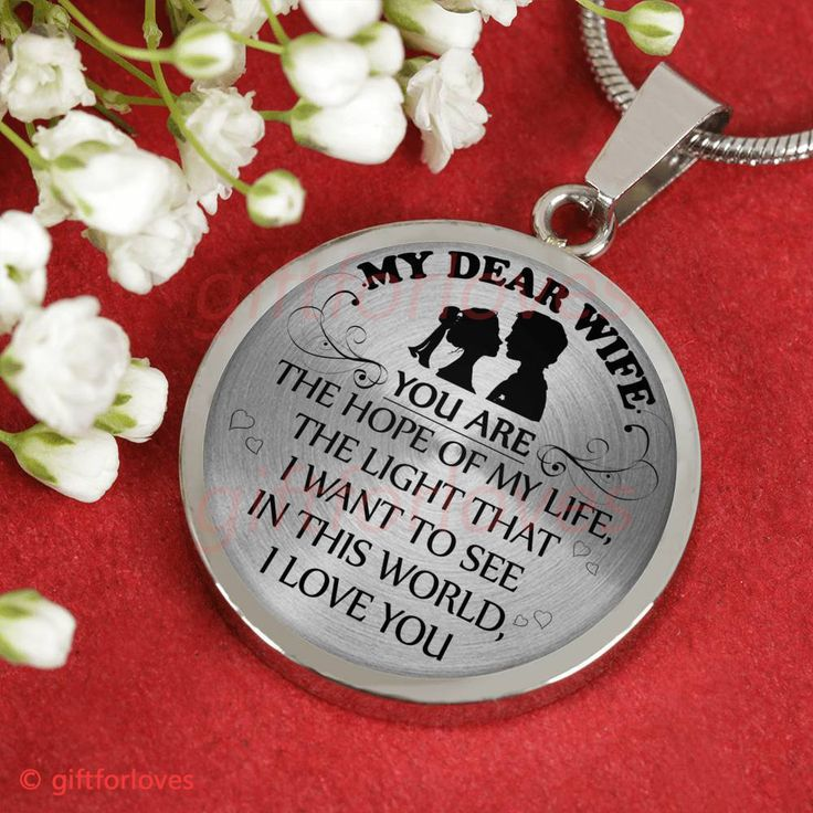 To My Wife Luxury Necklace Perfect Wedding Gift For Wife