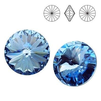1122 Rivoli SS39 Light Sapphire F 2pcs  Dimensions: diameter 8,16-8,41 mm Colour: Light Sapphire F 1 package = 2 pieces