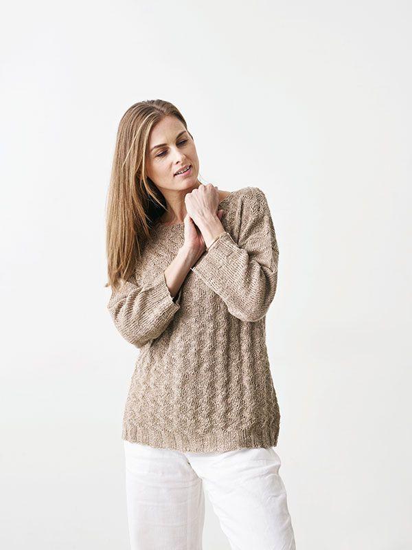 Få en strikkeopskrift på den flotte bluse med siksak-mønster