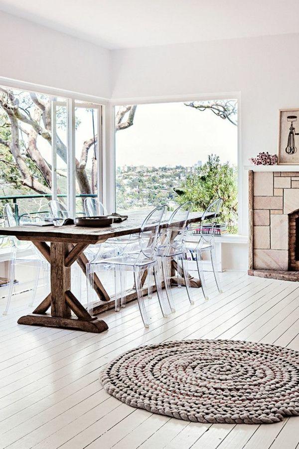 Les 14 meilleures images du tableau d coration salle - Table et chaise transparente ...