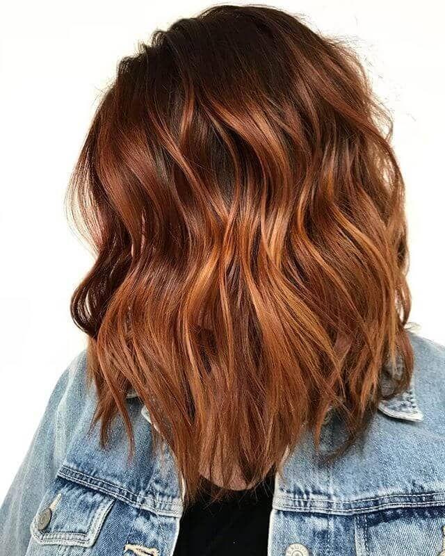 50 Breathtaking Auburn Hair Ideas To Level Up Your Look Medium Length Ash Caramel Burnished Waves – EpicDesign