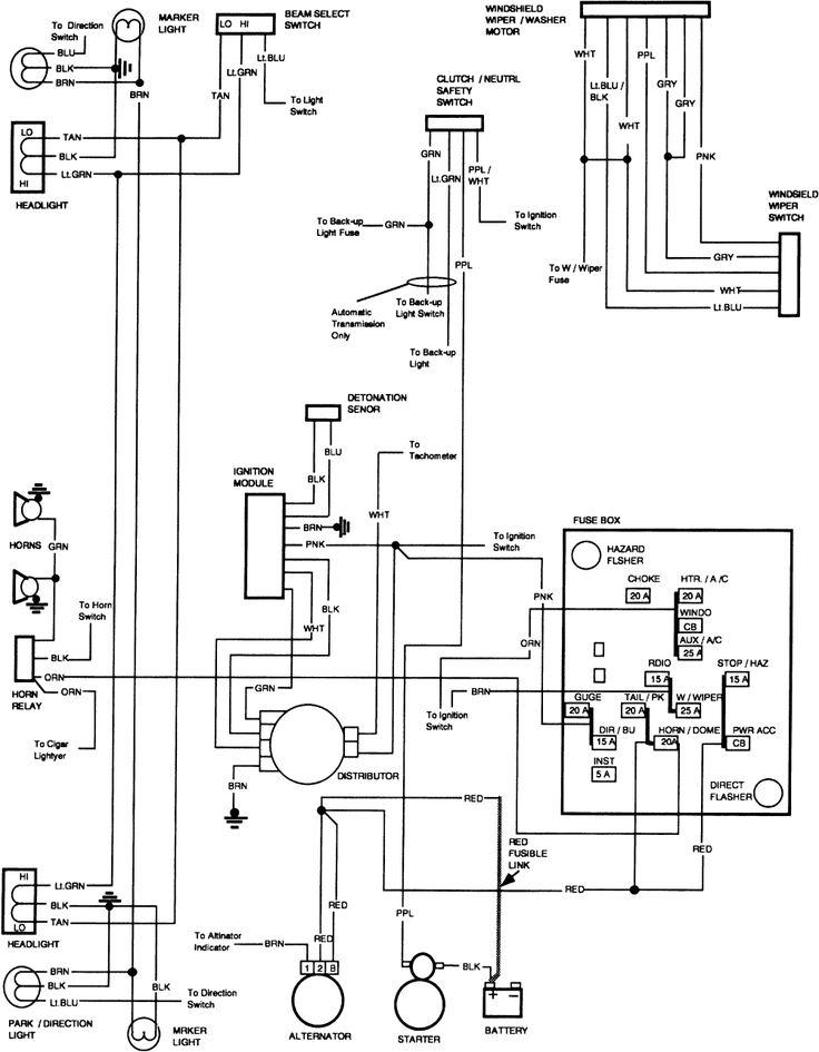 1983 Chevy Truck Wiring Diagram In 2020