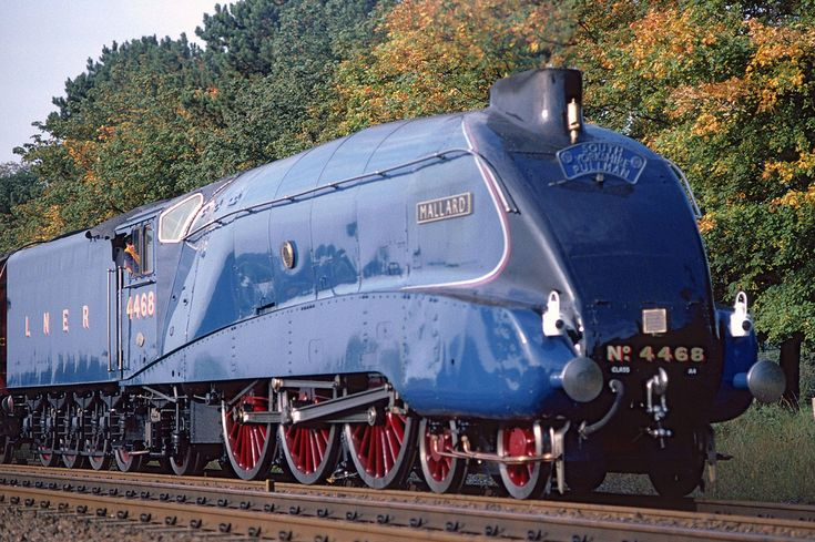 Mallard. The worlds fastest steam locomotive, at 125.88mph. Not the prettiest steam engine I've ever seen, but its wonderful that we can make a kettle go that fast...