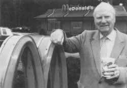 Richard James McDonald ♦ along with Maurice McDonald (American fast food pioneers, who established the first McDonald's restaurant at 1948).