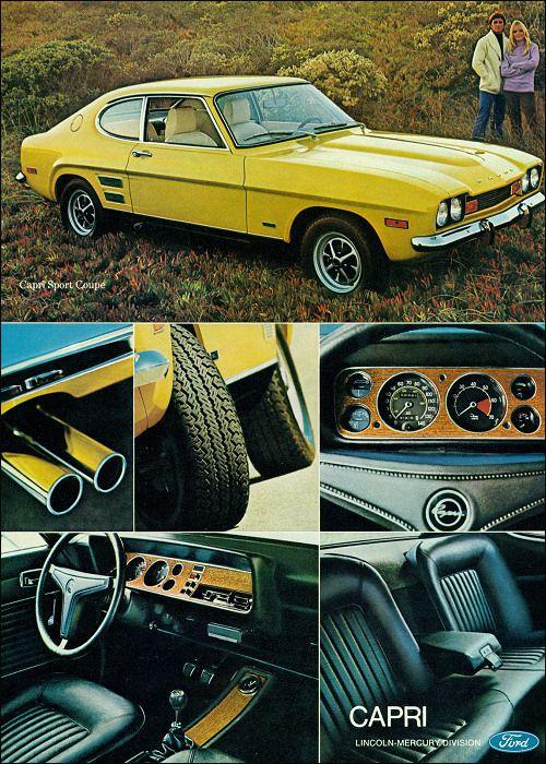 Ford Cpri 1972.Classic Car Art&Design @classic_car_art #ClassicCarArtDesign