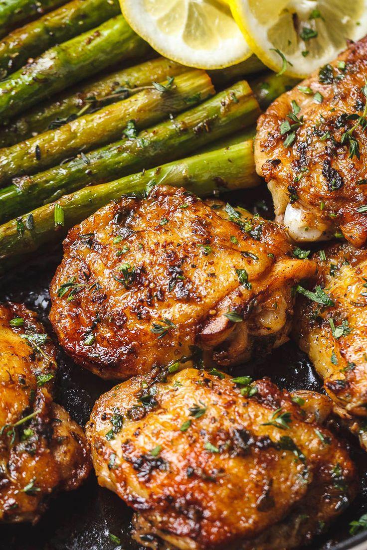 Buttery Garlic Herb Chicken With Asparagus