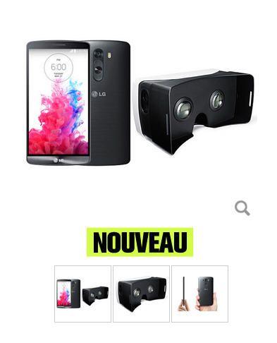 LG G3 Titane + Casque de réalité virtuelle LG pas cher prix promo TV LED Grosbill 329.00 €