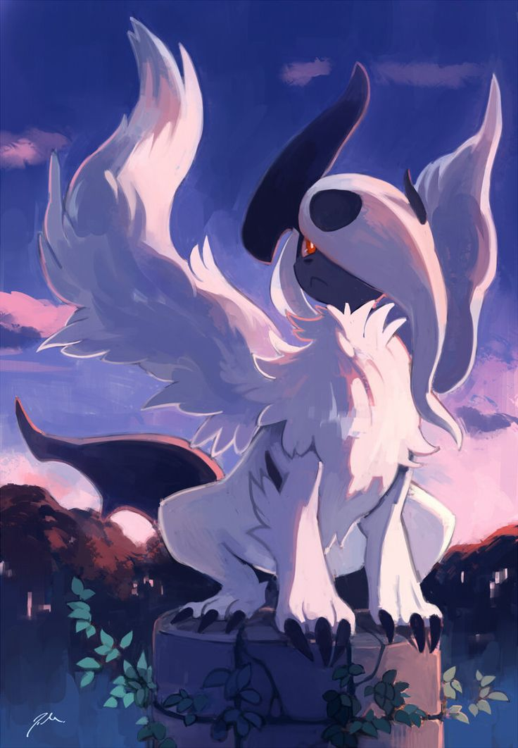 This is an amazing picture of Absol, in Mega form, by bluekomadori on deviantART