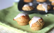 Mini Banana Muffins with Yoghurt Topping Recipe - Kids food