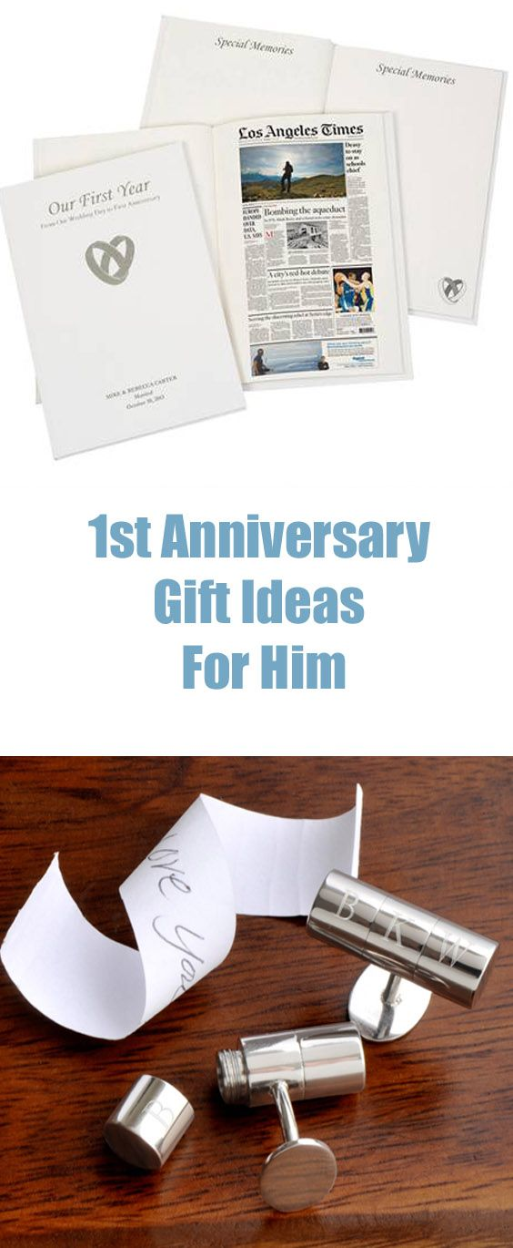 1st Anniversary gift ideas for him are