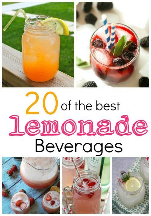 20 of the best Lemonade Beverages! Easy Lemonade Recipe for Summer!