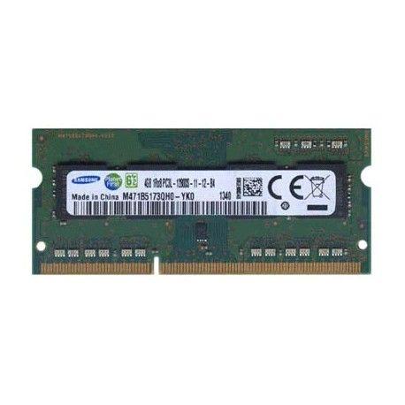 Samsung SODIMM 4GB 1Rx8 PC3-12800S DDR3-1600 - M471B5173QH0-YK0 Model  SSMO01XX Condition  New  Samsung SODIMM termurah hanya di Gudang Gadget Murah. Samsung SODIMM DDR3 12800 untuk Notebook / laptop dengan memory 4GB.