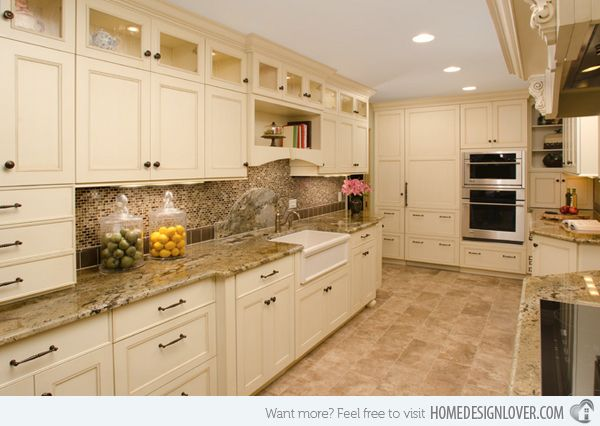 62 best images about 1930 39 s to 1950 39 s kitchen design on for Butter cream colored kitchen cabinets