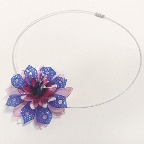 Náhrdelník - P.E.T. art  1 květ