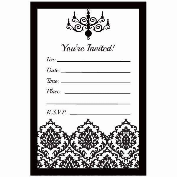 Black And White Birthday Invitations Lovely Black And White Birt Printable Birthday Invitations Free Printable Birthday Invitations Party Invitations Printable