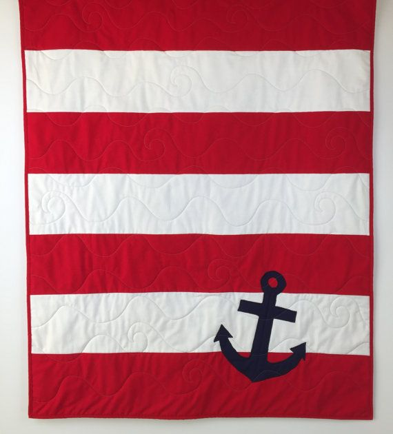 Nautical Baby Quilts nautical crib quilt by BabyQuiltsbyRomiW