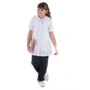 Escolar – Cuor di Mela hermoso guardapolvo sin ,mangas