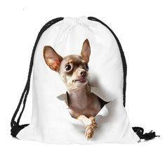 #Banggood Собака бежать 3d печати шнурком мешок тренажерный зал спортивный рюкзак на открытом воздухе досуг Mochila (1070624) #SuperDeals